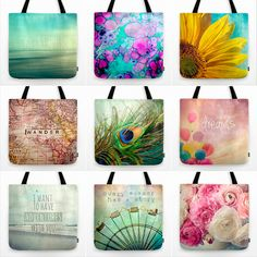 society6  tote  bag  blue  aqua  travel  flower  feather  beach  ocean   typography  abstract  map 9314beec13f53