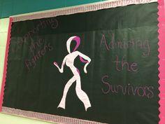 Breast Cancer awareness bulletin board.