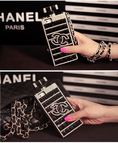Couque chanel forme d'une bouteille de parfum bien chic pour iPhone 4/4s/5/5s/6/6s/6plus/6splus sur www.lelinker.fr