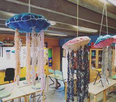 Jellyfish/gopler lavet af 3.klasse.