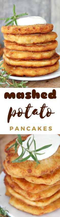 MASHED POTATO PANCAKES RECIPE  Crisp on the outside and moist within, these pancakes are a great way to use leftover mashed potatoes. Make the most of Thanksgiving leftovers with this easy mashed potato pancakes recipe!  #recipes #thanksgiving #ThanksgivingRecipes #mashedpotatoes #potatoes #recipeideas