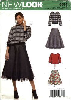 New Look 6314 Misses' Top and Skirt Seven Sizes in One