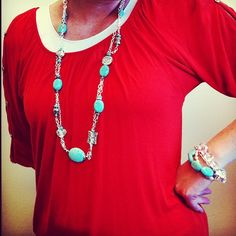 Take a look at some of the GORGEOUS New Jewelry from our Fall Collection! Get yours today! Item # 81064 Turquoise Tangle Necklace  and Item # 71054 Turquoise Strand (for our Interchangeable Bracelet). www.bcharmed.com