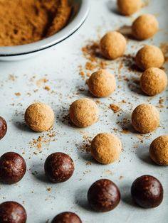 Raw tahini brownie bites + a giveaway | Oh, Ladycakes