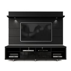 The Cabrini TV Stand and Cabrini Panel combined create a complete Home Theater Entertainment Center. Easily maneuver the Cabrini TV Stand into place, with the convenient wheels for hassle-free arrangement. Mount your TV directly Cabrini TV Panel Tv Stand And Panel, Tv Panel, Led Tv Stand, Wood Entertainment Center, Picture Shelves, Picture Ledge, Picture Frames, Gloss Matte, Tv Wall Design