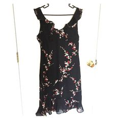 listing Urban Outfitters romantic dress Beautiful longer length black floral dress from Urban Outfutters. Size 11/12. Very flattering silhouette . Urban Outfitters Dresses