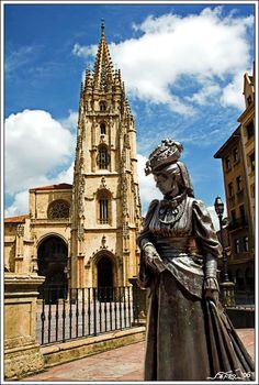 La Regenta by the Cathedral, Oviedo, Spain (La Regenta by Leopoldo Alas, the best Spanish novel in the 19th century)