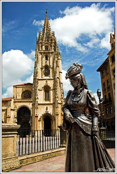 La Regenta by the Cathedral, Oviedo, Spain (La Regenta by Leopoldo Alas, the best Spanish novel in the 19th century)