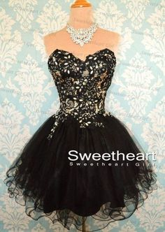 Beautiful Black Short Prom Dress!!!