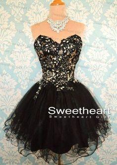 Pretty black prom/ homecoming dress