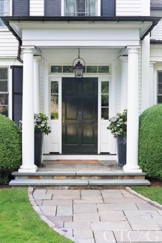 Image result for renovations of traditional center hall colonial exterior