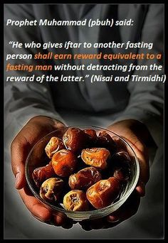 Subhana allah.jenna is easy.charity even with giving a date to a fasting person to break his fasting