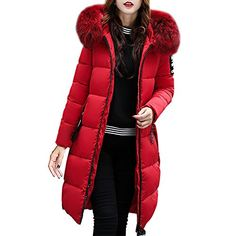 Hpapadks Women Solid Casual Thicker Winter Slim Down Lammy Jacket Coat  Overcoat BK XXL Hooded Thickened Long Maxi Parka Blackfriday Thanksgiving  sale USA 0691a7df53c