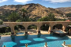 That #pool and the epic southern #California pad from #TheBachelor can now be yours for a night. #travel #luxury #airbnb #falltravel