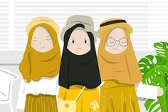 Cartoon Quotes, Cartoon Art, Hijab Drawing, Ariana Grande Drawings, Islamic Cartoon, Friend Anime, Anime Muslim, Hijab Cartoon, Cute Cartoon Girl