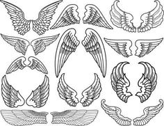 angel wing wrist tattoo - Google Search