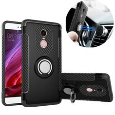 [US$5.02] Bakeey Armor Shockproof Magnetic 360° Rotation Ring Holder TPU PC Back Case For Xiaomi Redmi Note 4 #bakeey #armor #shockproof #magnetic #rotation #ring #holder #back #case #xiaomi #redmi #note