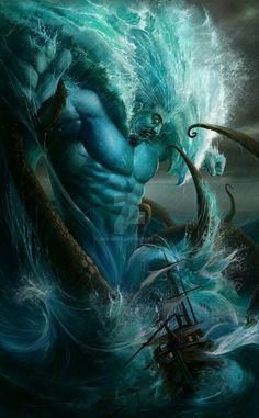 Ponto a Divindade das profundezas do Mar, um dos Primordiais...