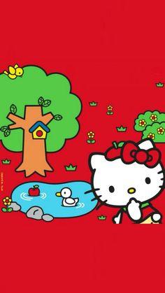 Hello Kitty Backgrounds, Hello Kitty Wallpaper, Kawaii Wallpaper, Cellphone Wallpaper, Iphone Wallpaper, Hello Kitty Clothes, Hello Kitty Images, Hello Kitty Collection, Wallpaper Backgrounds