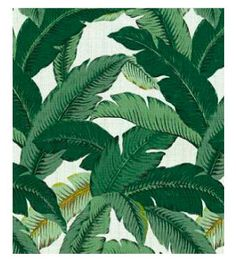 "Waverly Swaying Palms Decorative Leaves Fabric by Tommy Bahama, outdoor fabric, 54"", $19.99/yard."