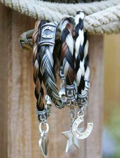 Custom horse hair bracelets by Tailspin Equestrian Bracelets I A gift for my horse-mad sister!