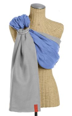 Essential Linen Baby Sling :: Bayou~Silver