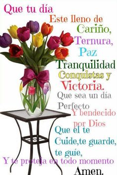 Buen dia bendiciones Amiga@s. Una bonita Semana para ti - Reyna Bruno - Google+