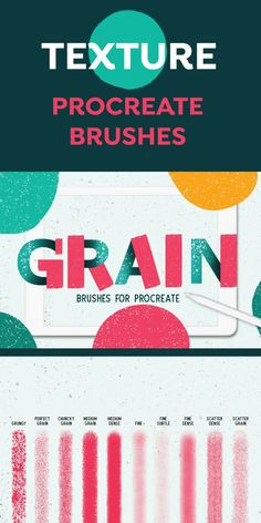 Presenting Oh So Grainy Brush Set For Procreate - a brush selection of unique grainy brushes for your procreate needs. This pack contains 22 unique Brush Sets, Digital Illustration, Hand Lettering, Ipad, Illustrations, Texture, Patterns, Create, Drawings