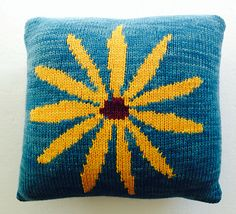 This is one of the two pillows associated with the Summer 2014 Cast On Magazine, Intarsia Stitch Anatomy Article.