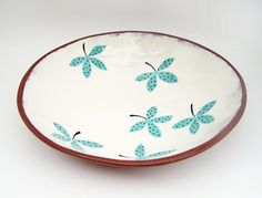 Hand painted serving bowl by Susan Simonini