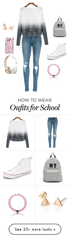 """School clothes"" by sydneyhall131 on Polyvore featuring Mode, Converse, Joshua's, Kate Spade, Beats by Dr. Dre, women's clothing, women's fashion, women, female und woman"