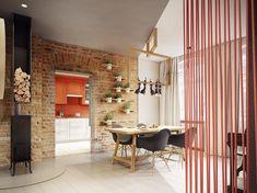 Современная квартира c потрясающим геометрическим дизайном, спроектированная студией PLASTERLINA, находится в польском городе Познань