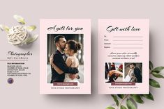 Photographer Gift Certificate V20 by Template Shop on @creativemarket Gift Certificate Template, Gift Certificates, Program Template, Text Tool, Photographer Gifts, Model Comp Card, Photoshop Elements, Photography Marketing, Custom Design