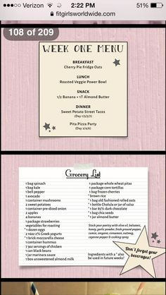 Week one menu yum pinterest menu fit girls guide and girl f22f8478f2ee421bac29cfea5b9c5fdbg 6401136 pixels fit girls fandeluxe Image collections