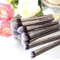 Gunmetal Brushes never disappoint Synthetic luxurious quality and so easy to maintain! We have so many options to choose from once you try them you'll be hooked #morphebrushes by morphebrushes