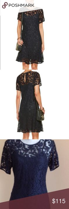 HOST PICK ! Michael Kors Dress / Lowered Beautiful lace dress, NEW with tags! Flare fit. Navy blue color. Excellent condition ! It has an attached lining. Navy blue color. Last 2 pictures show better the color. Michael Kors Dresses Midi