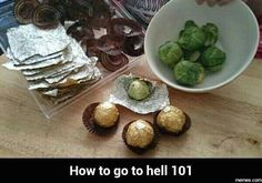 The best way to fake Brussel Sprouts Evil Pranks, Funny Pranks, Camp Pranks, April Fools Pranks, April Fools Day, Christmas Pranks, Christmas Decor, Merry Christmas, Christmas Gifts