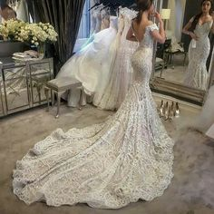 Lacy wedding dress