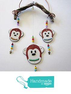 3 Monkey Sun Catcher, Hanging on Driftwood, Fused Glass from Matt's Glass http://www.amazon.com/dp/B01F2GCM3Y/ref=hnd_sw_r_pi_dp_bwxmxb1EC8PXT #handmadeatamazon