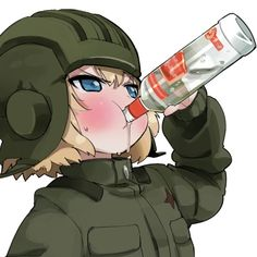 Girls und Panzer  Come on, is it cuz she's russian? xD