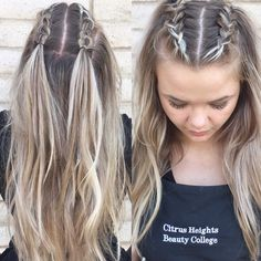 110 effortless hairstyles you can rock when youre in a rush 13 ~ thereds. Big Box Braids Hairstyles, Long Braided Hairstyles, Braids For Long Hair, Long Hair Dos, Homecoming Hairstyles, Hairstyles 2018, Concert Hairstyles, Hairstyles Pictures, Festival Hairstyles