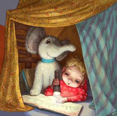 Vaya rincón de lectura! (ilustración de Kayla Harren)