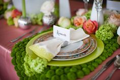 Chartreuse & Coral Inspiration from Ginger's Closet http://www.weddingobsession.com/2012/06/26/chartreuse-coral-inspiration-gingers-closet/