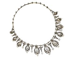 ANTIQUE PEARL AND DIAMOND TIARA / NECKLACE, LATE 19TH CENTURY, CARTIER  A girl always need a tiara :-)  Sotheby's