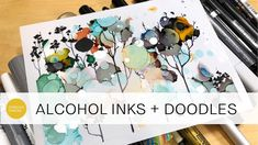 video demo by CeeCee: doodling on alcohol inks and testing out all my markers ! video demo by CeeCee: doodling on alcohol inks and testing out all my markers ! Alcohol Ink Crafts, Alcohol Ink Painting, Alcohol Markers, Alcohol Ink Art, Ink Doodles, Artist Pens, Art Journal Techniques, Marker Art, Paint Markers