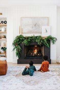 California Christmas, Amber Interiors, Black Candles, Muted Colors, Living Room Inspiration, Meditation, Interior Design, Cool Stuff, Holiday Decor