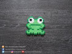 Little Frog Pearls Hama / Little Frog Perler Beads – Geschenkideen & Basteltipps – Hama Beads Easy Perler Bead Patterns, Melty Bead Patterns, Perler Bead Templates, Diy Perler Beads, Perler Bead Art, Beading Patterns, Peyote Patterns, Pearler Beads, Loom Patterns