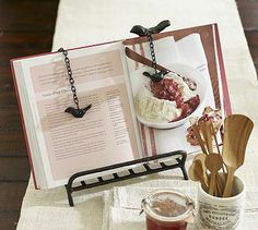 Bullion Recipe Holder from Pottery Barn - we need this @ www.homescapes-sd.com #recipeholder #staging #homescapes