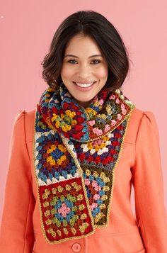 granny square scarf free pattern - Cerca con Google