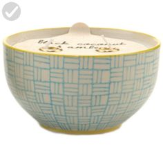 Paddywax Candles Boheme Collection Candle in Hand Painted Ceramic Bowl, 7-Ounce, Jasmine and Bamboo - Improve your home (*Amazon Partner-Link)